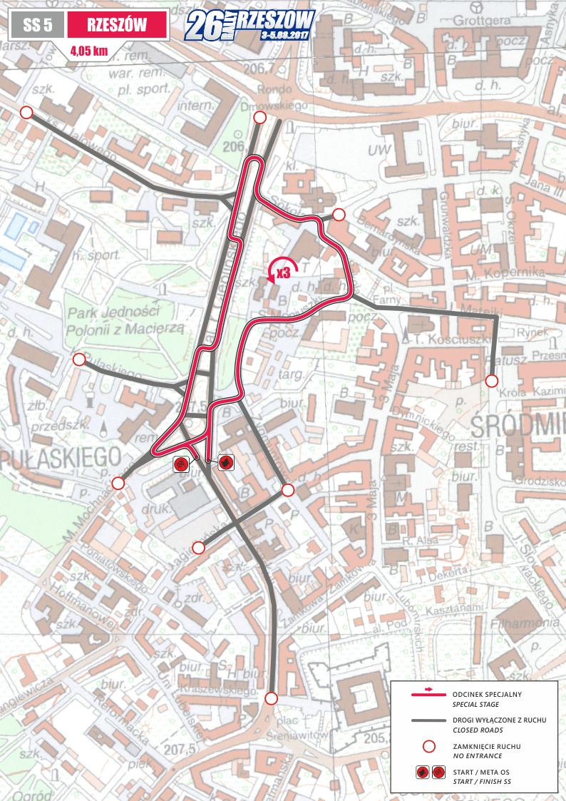 Fot. Materiały organizatorów. Na zdjęciu mapa odcinka specjalnego Rzeszów