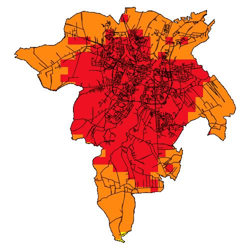 Zdjęcie: Powietrze.Podkarpckie.pl. Tak wygląda wtorkowa mapa jakości powietrza w Rzeszowie i i okolicach